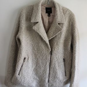 Forever 21 fuzzy peacoat